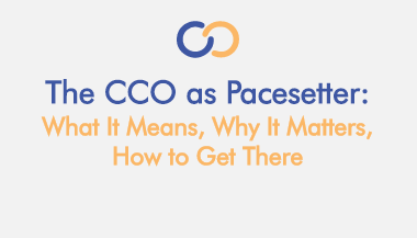 The CCO as Pacesetter